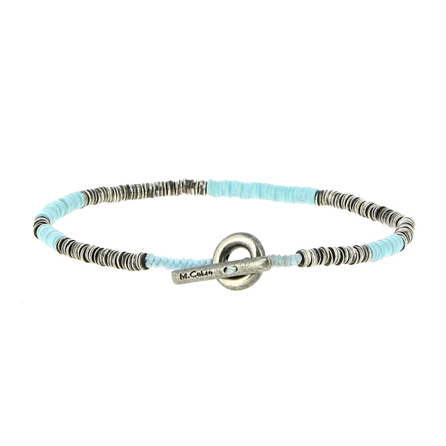 Bracelet Light Blue Mini African Vinyl