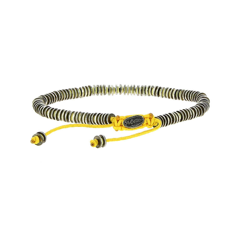Bracelet Silver & Yellow Beads - M Cohen - Bracelets pour homme - Mad Lords