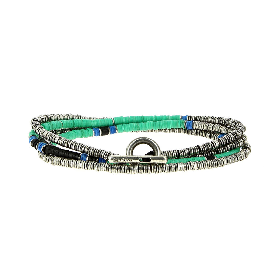 Bracelet 4 Layers Green - M Cohen - Bracelets pour homme - Mad Lords