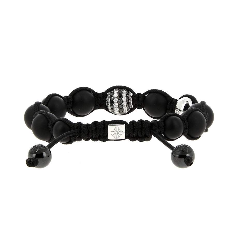 Shamballa Bracelet Black And White Diamonds