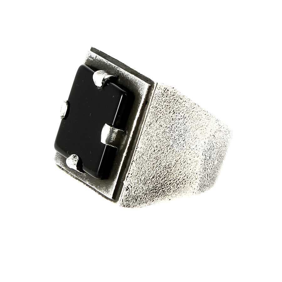 Bague Large Square Onyx