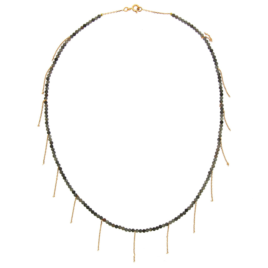 Collier Franges Perles Aventurine - Rivka Nahmias Jewelry - Colliers pour femme - Mad Lords
