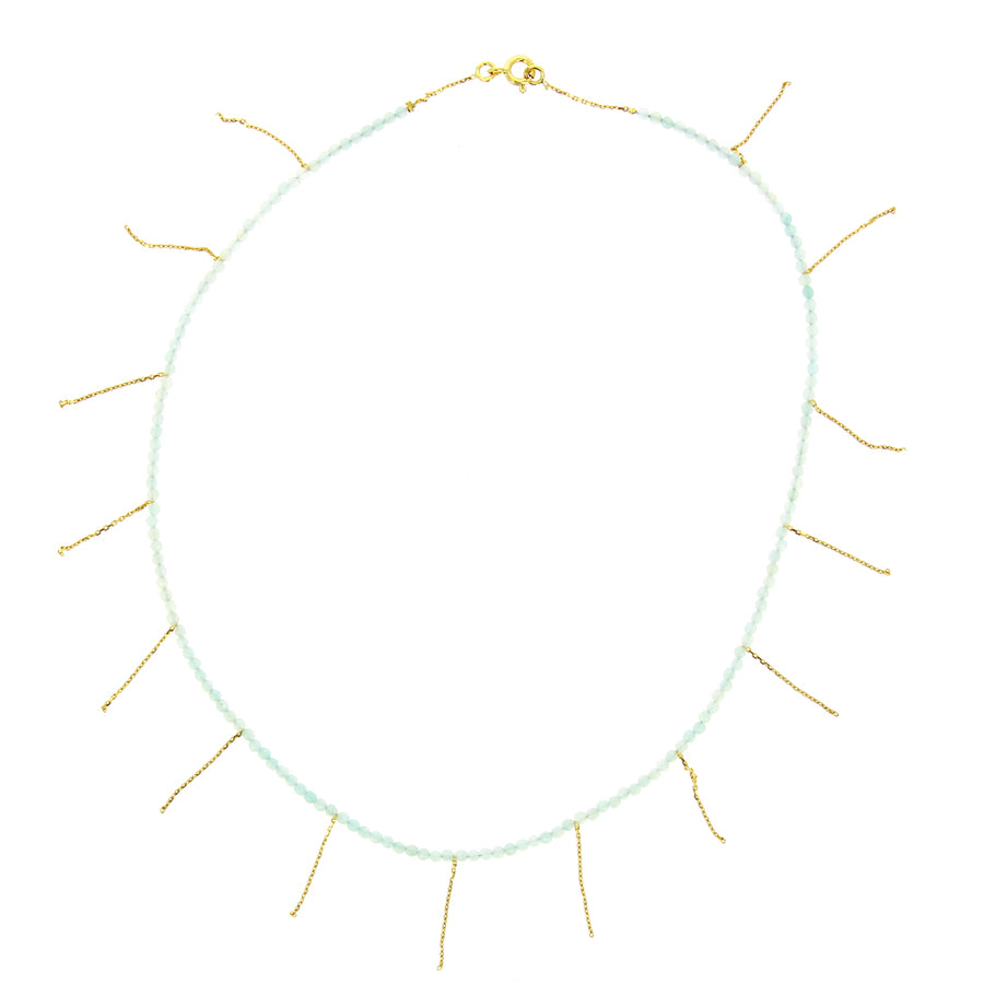 Collier Franges Pierres De Lune - Rivka Nahmias Jewelry - Colliers pour femme - Mad Lords