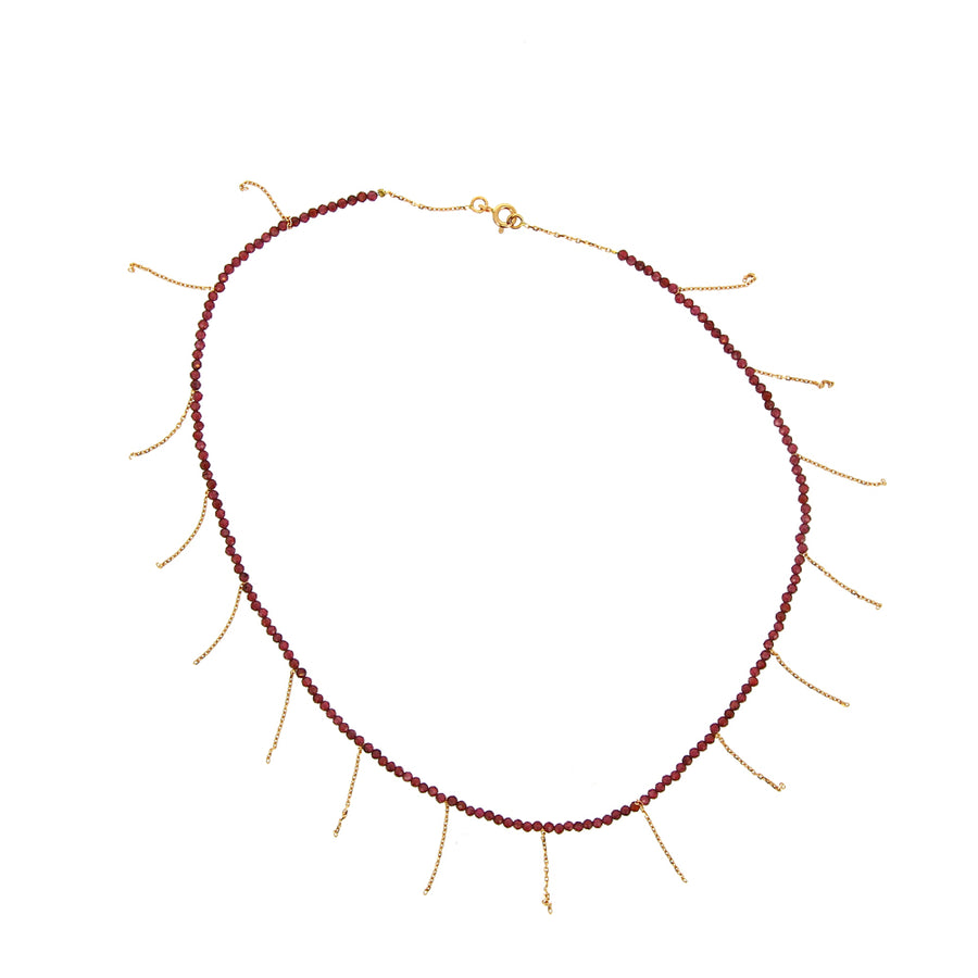Collier Franges Grenats - Rivka Nahmias Jewelry - Colliers pour femme - Mad Lords