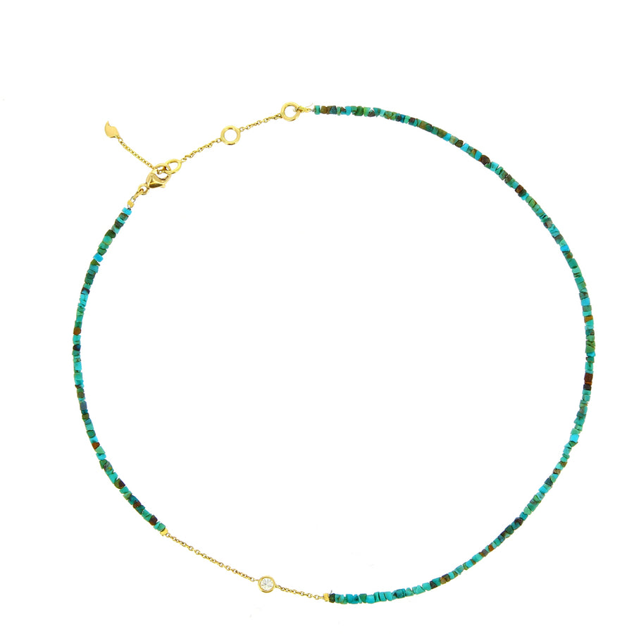 Chocker Turquoise Diamant - Rivka Nahmias Jewelry - Colliers pour femme - Mad Lords