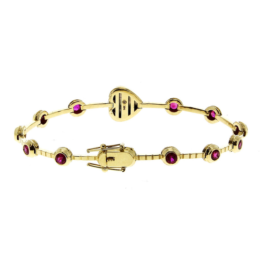 Bracelet Heart Ruby - Retrouvai - Bracelets pour femme - Mad Lords