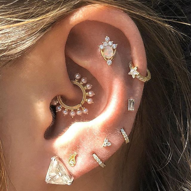 Boucle d'oreille Diamond Trinity Or Rose