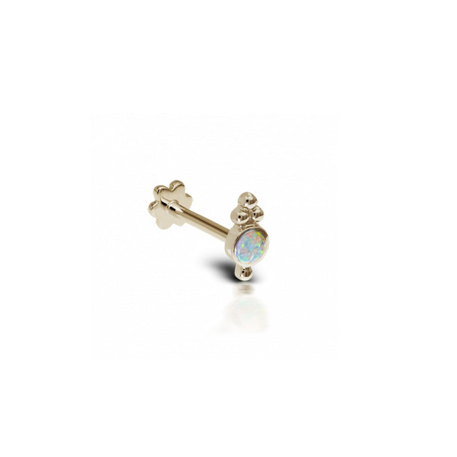 Boucle D'Oreille Opal Trinity Yellow Gold