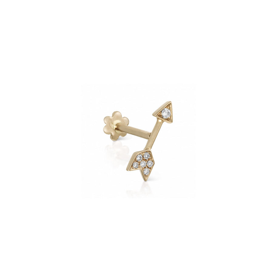 Boucle D'Oreille Diamond Arrow Yellow Gold