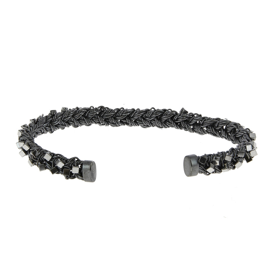 Bracelet Braided Hématite - Rusty Thought - Bracelets pour homme - Mad Lords