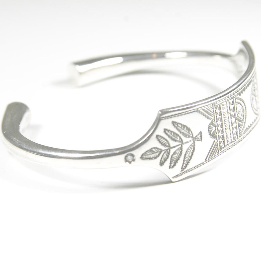 Bracelet Silver Leaf Incruste De Diamants - Mad Lords - Bracelets pour homme - Mad Lords