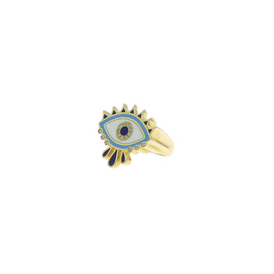 Bague Queen eye pinky