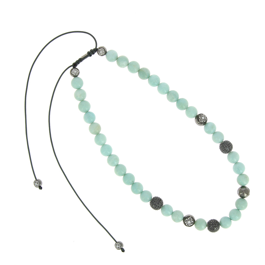 Collier Shamballa Mint Pearls