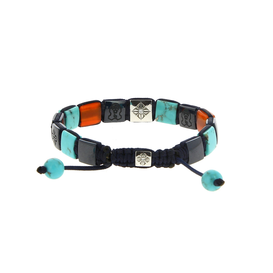Bracelet blue shades - Shamballa Jewels - Bracelets pour homme - Mad Lords