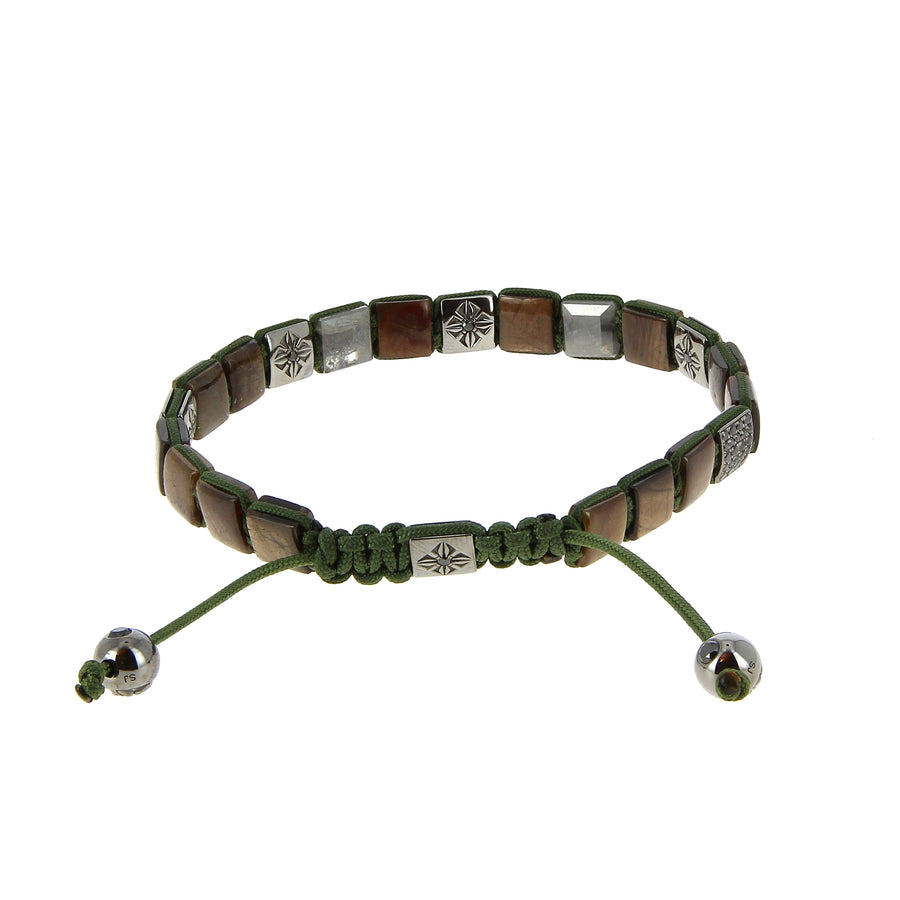 Bracelet Lock Brown & Green
