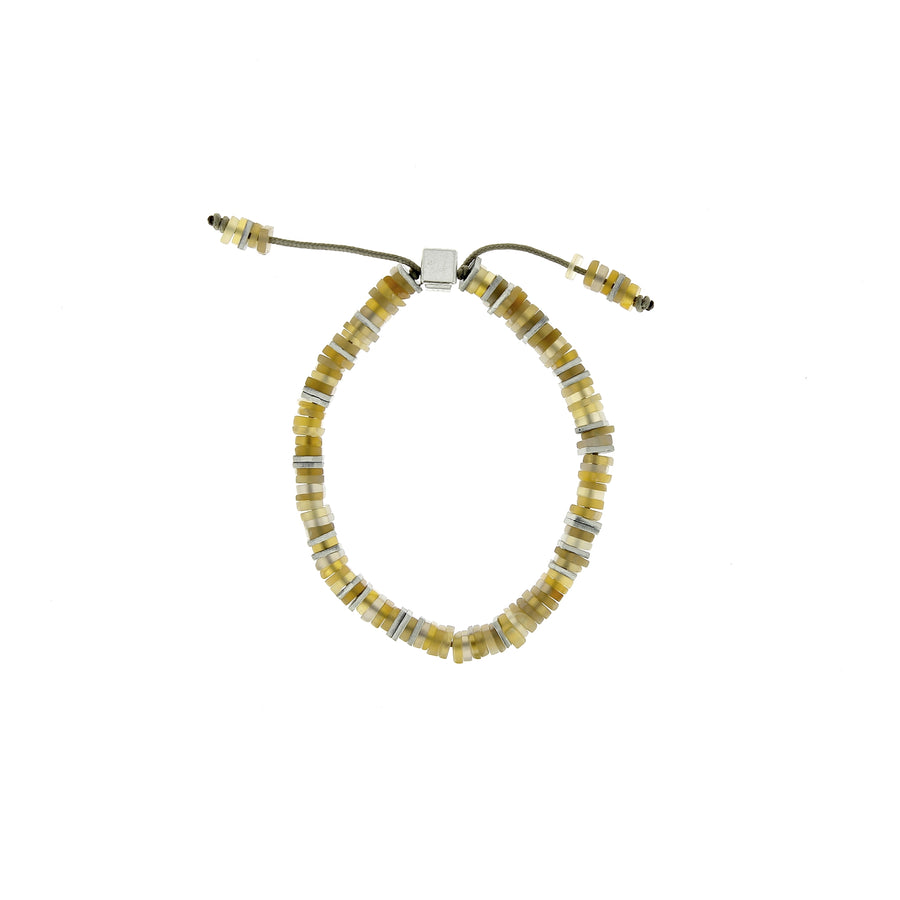 Square Disc Bead Bracelet Citrine