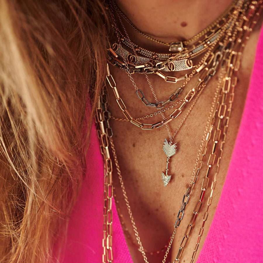 Collier Ras-De-Cou Or Rose