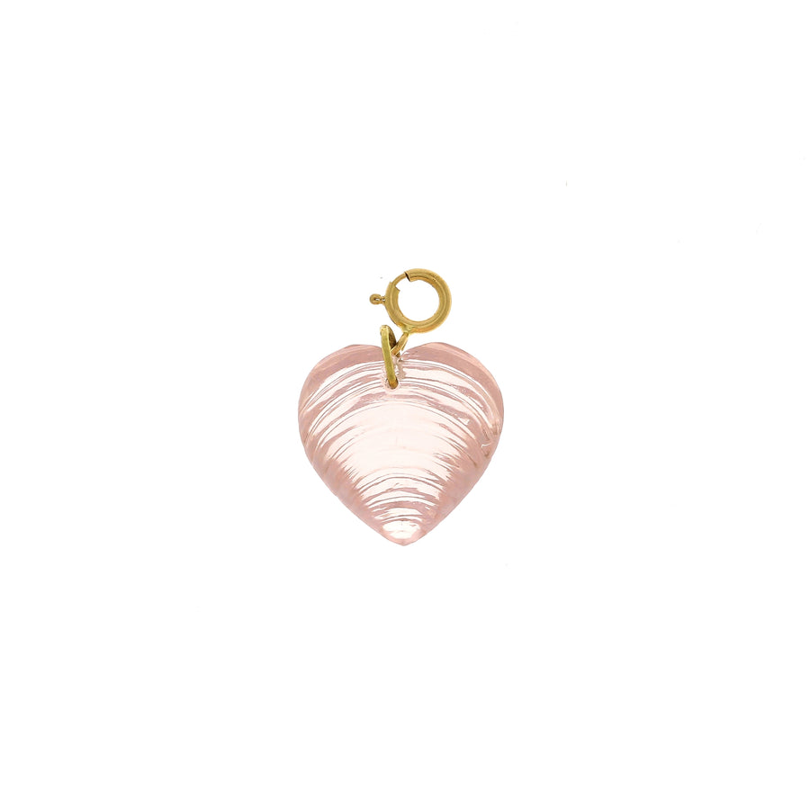 Pendentif Coeur quartz rose sculpté Ten Thousands Things