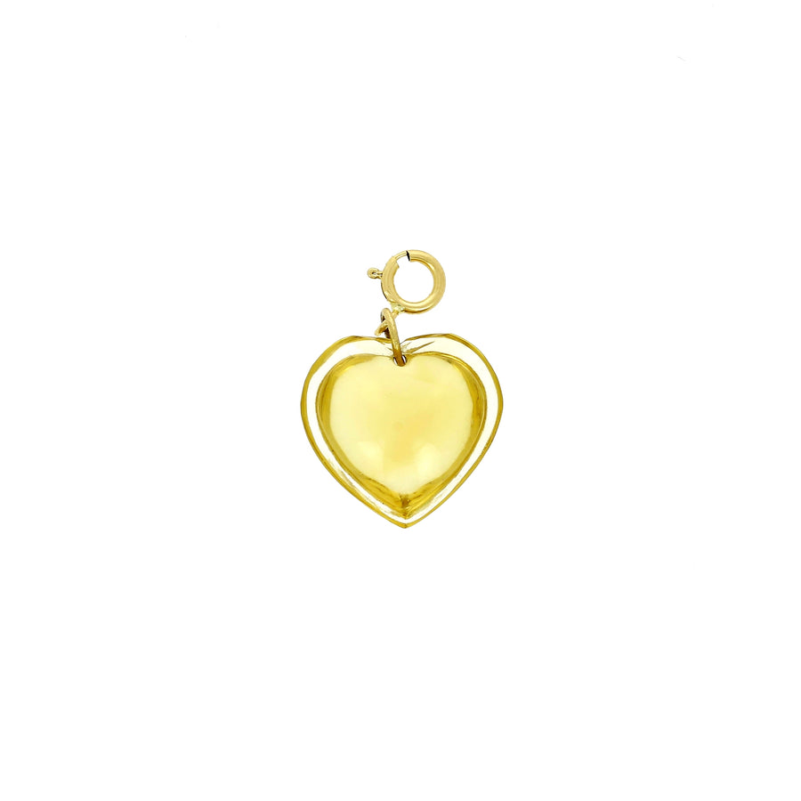 Pendentif Coeur citrine Ten Thousands Things