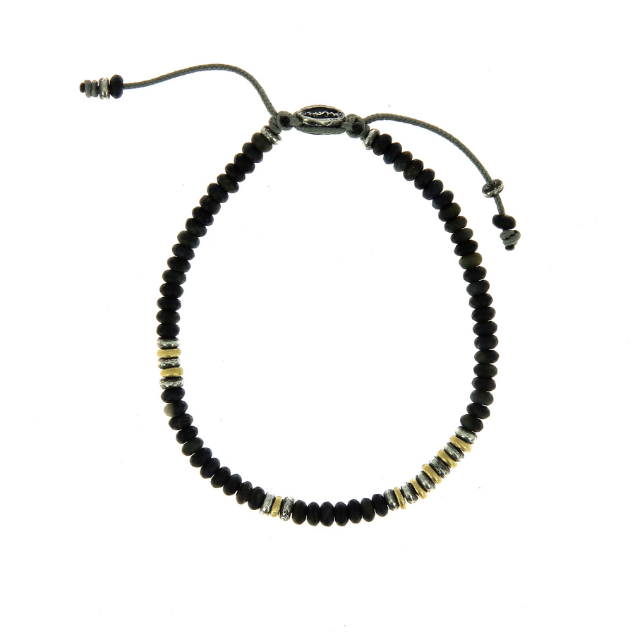 The Cipher Bracelet Blue Tiger Eye Beads