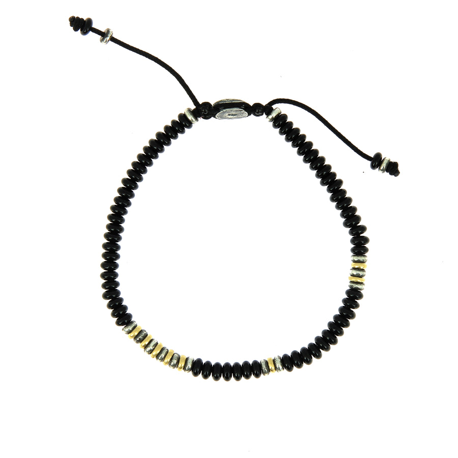 The Cipher Bracelet Onyx Beads