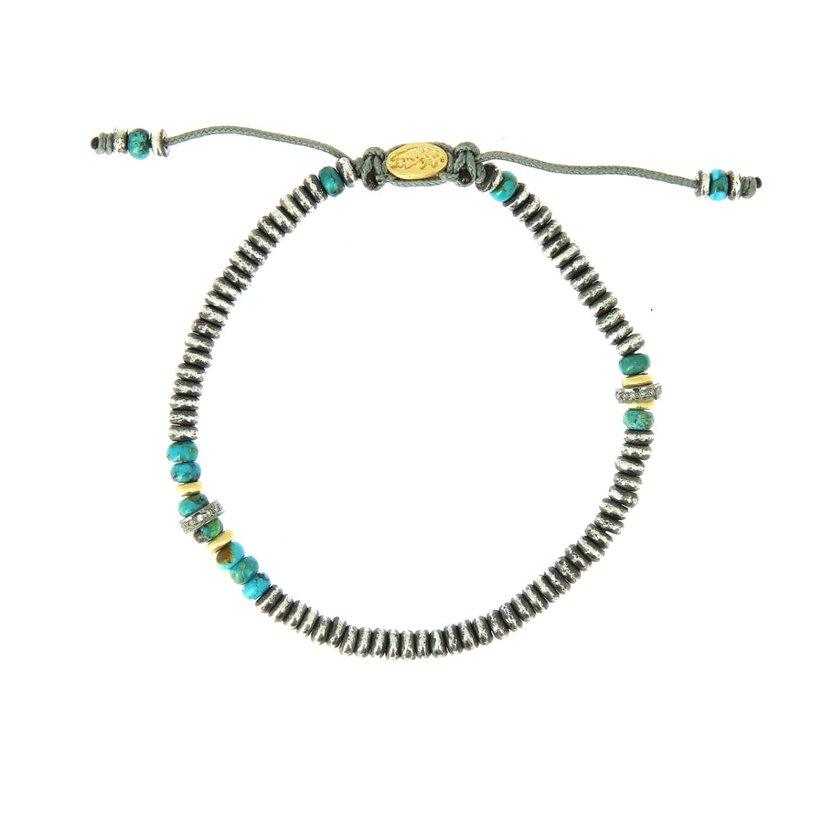 The Flux Bracelet Turquoise Beads