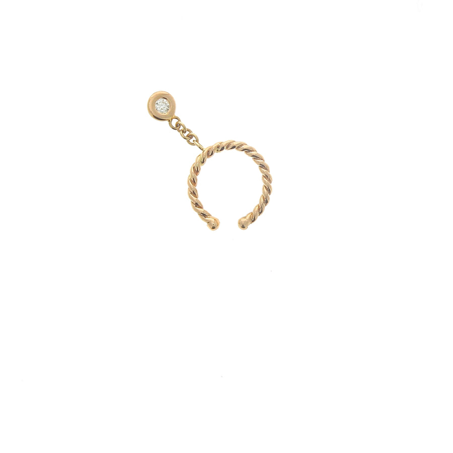 Bijou d'oreille Twisted Un Diamant