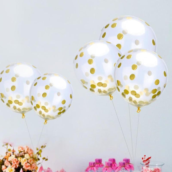 Transparent with Sequins Confetti Balloons