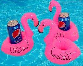 Floating  Flamingo Inflatable Canned Drink Holder