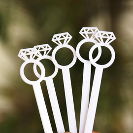 Diamond Ring Drink Stirrer