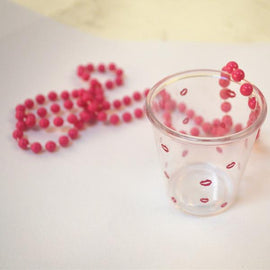 30pcs Bachelorette Party Hot Pink Lips Print Shot Glass