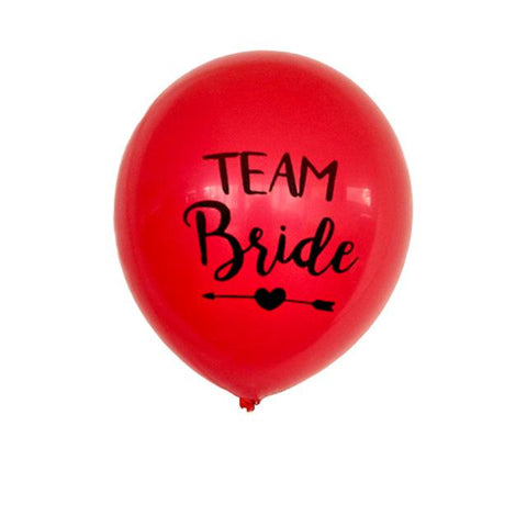 Team Bride Latex Balloon
