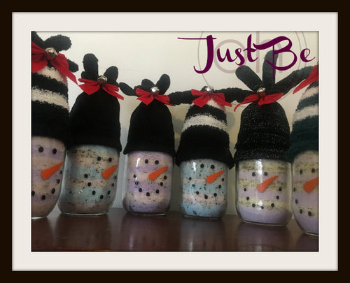 Snowman Salts with Gloves