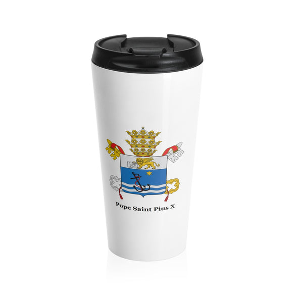 Pope Saint Pius X Stainless Steel Travel Mug