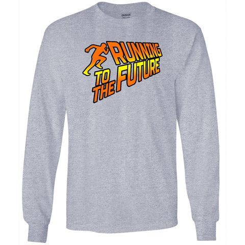 Running To The Future - Men's Long Sleeve T-Shirt