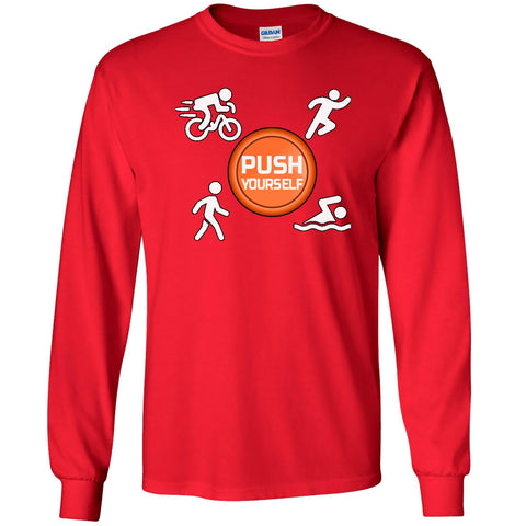 Push Yourself - Men's Long Sleeve T-Shirt