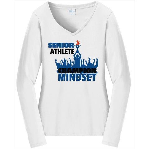 Champion Mindset - Ladies Long Sleeve V-Neck Tee