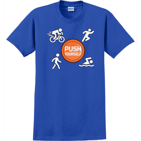 Push Yourself-Men's Basic Crew