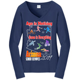ASO 2019 Games, Long Sleeve V-Neck T-Shirt