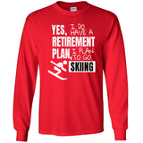 Retirement Plan - Skiing - Men's Long Sleeve T-Shirt