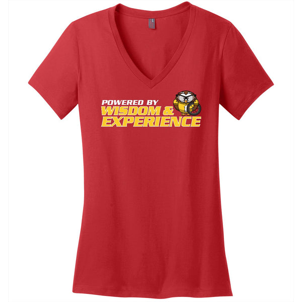 Powered By Wisdom & Experience - Women's V-Neck