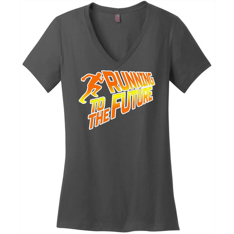 Running To The Future-Women's V-Neck