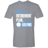 Retirement Plan - Golfing - Men's Premium Crew