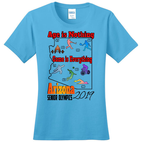 ASO 2019 Games, Short Sleeve Crew Neck TShirt