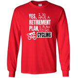 Retirement Plan - Cycling - Men's Long Sleeve T-Shirt
