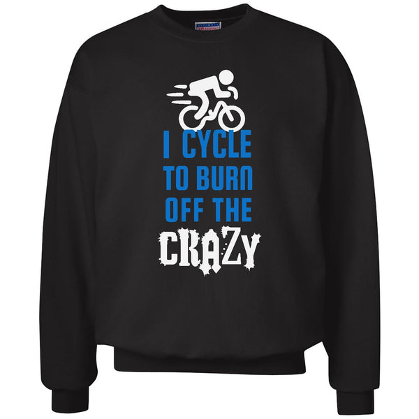 Burn Off The Crazy - Cycle - Unisex Crewneck Sweatshirt