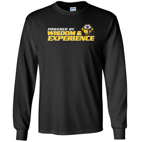 Powered by Wisdom & Experience - Men's Long Sleeve T-Shirt