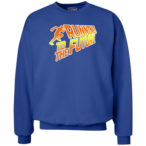 Running To The Future - Unisex Crewneck Sweatshirt