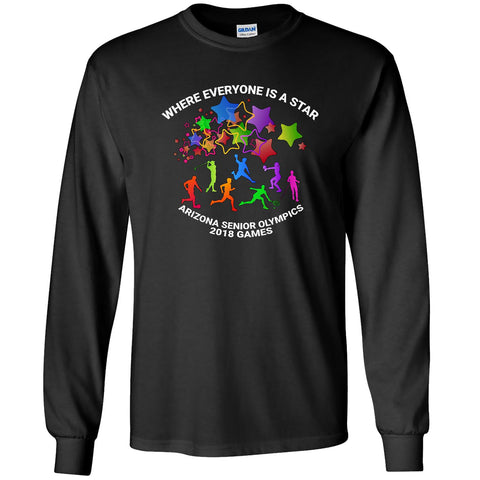 ASO 2018 Games - Men's Crew Long Sleeve Tee