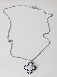 black and white swarovski necklace jewel